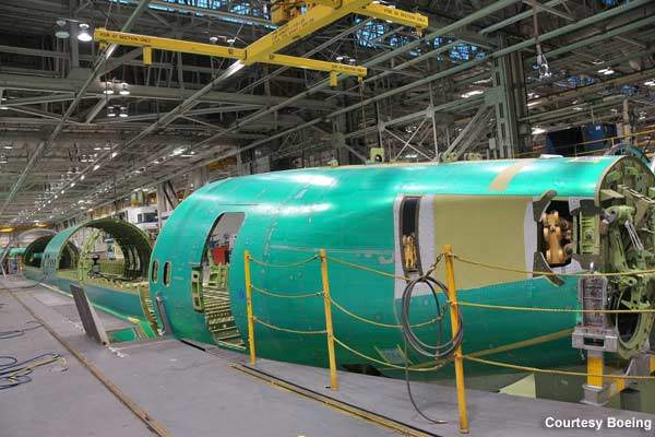 The BBJ3 fuselage is an aluminium structure, which is manufactured and assembled by Spirit AeroSystems at Wichita, Kansas.