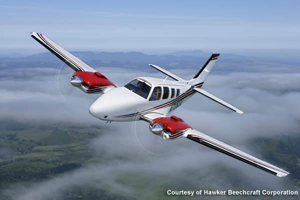 Beechcraft Baron G58 performing its maiden flight.
