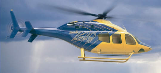 Features of the Bell 429 include a wide, 200ft³ cabin to seat up to seven passengers.