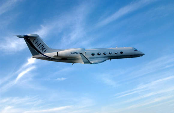 The G450 aircraft entered service in May 2005 - in the week after entering service the aircraft established a new intercontinental city-pair speed record with a flight of 3,550nm from Chicago to London in seven hours and fifteen minutes.