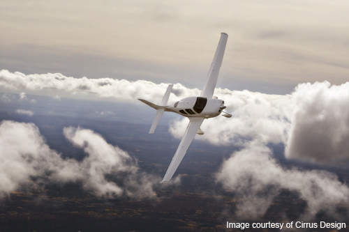 The SR20 is able to fly at high altitudes.