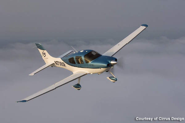 The maximum cruise speed of the SR22 turbo is 219ktas, 34kt higher than the standard SR22 model.