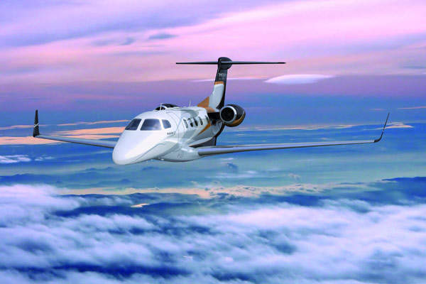 The Embraer Phenom 300 completed its maiden flight in April 2008.