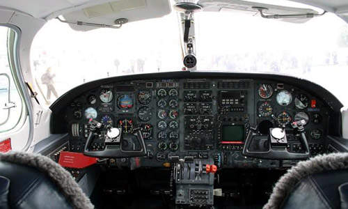 The F406's standard avionics system is the Honeywell Silver Crown package, which includes two communication and navigation systems, glideslope and ADF.