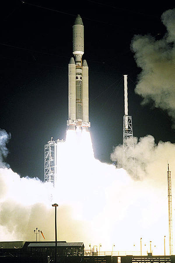 Cassini-Huygens was launched in October 1997 onboard the Titan IV-B / Centaur launch vehicle.