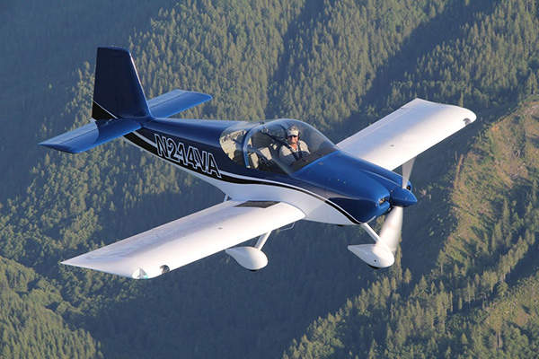RV-14 has a large cabin with two side-by-side seats. Image courtesy of Van's Aircraft.