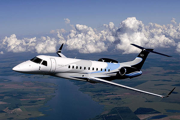 The first flight of the Legacy 600 aircraft was completed in March 2001. Image courtesy of Embraer Executive Jets.