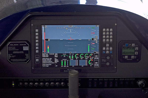 The cockpit of the Slick 360 is fitted with a large instrument panel. Image courtesy of Slick Aircraft Company.