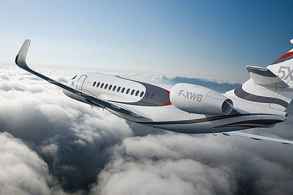 The first flight of the Falcon 5X was conducted in the first quarter of 2015. Image courtesy of Dassault Aviation.