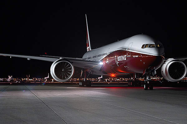 The first flight of Boeing 777X is expected in 2019. Image courtesy of Boeing.