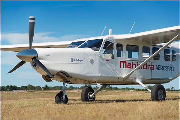 The first flight of GA10 Airvan was completed in May 2012. Image courtesy of Mahindra Aerospace.