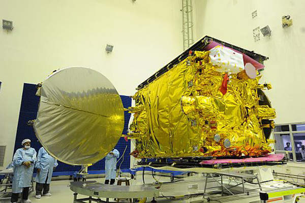 The satellite has a lift-off mass of 1,982kg. Image courtesy of ISRO.