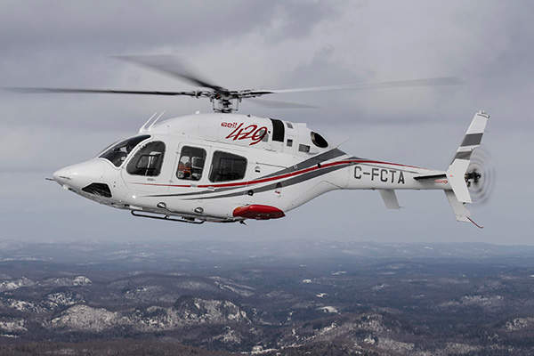 The Bell 429WLG was introduced in October 2013. Image courtesy of Bell Helicopter Textron.