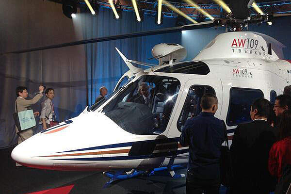 The helicopter features G1000HTM high visibility glass cockpit. Image courtesy of AgustaWestland.