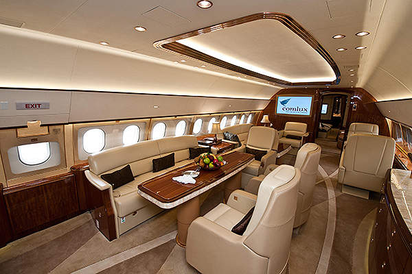 The ACJ319 was exhibited at the ABACE business aviation event held in Shanghai in April 2014. Image courtesy of Airbus S.A.S.