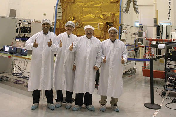 Jabiru-2 satellite was launched in September 2014. Image courtesy of NewSat.