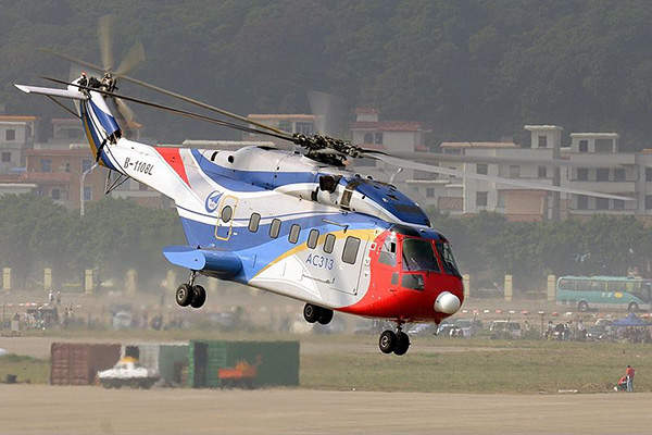 The first flight of the AC313 aircraft was completed in March 2010. Image courtesy of Shimin Gu.