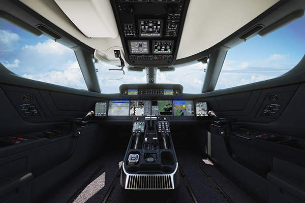 The spacious cabin of the G500 is designed to provide maximum passenger comfort and aircraft performance. Image courtesy of Gulfstream Aerospace Corporation.