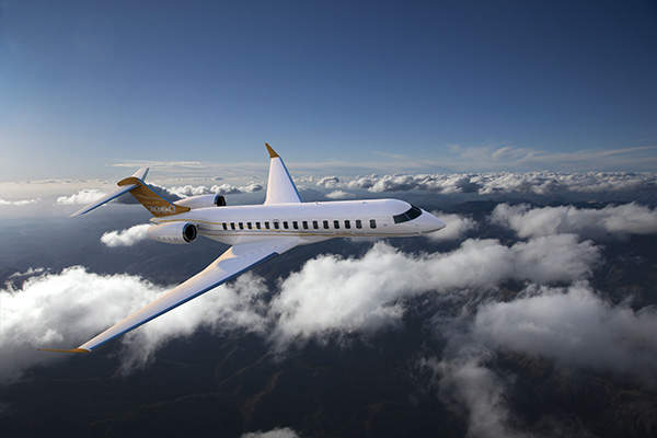 Global 7500 aircraft features large four-zone cabins with a volume of 2,637ft³. Image courtesy of Bombardier.