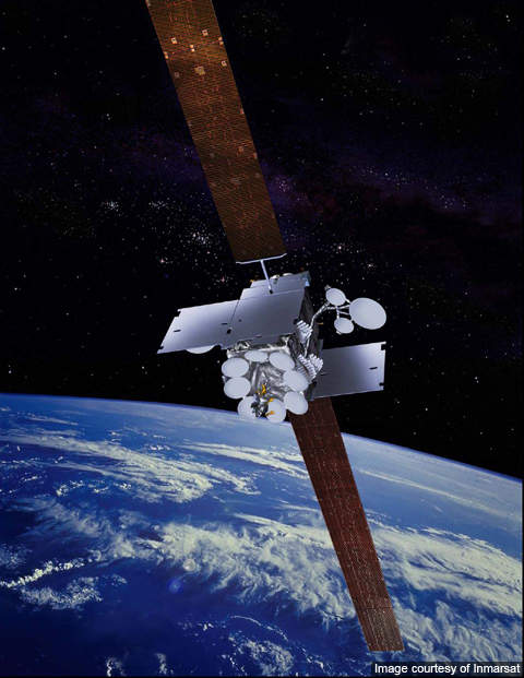 Inmarsat-5 is fitted with two solar wings of five gallium arsenide solar panels.