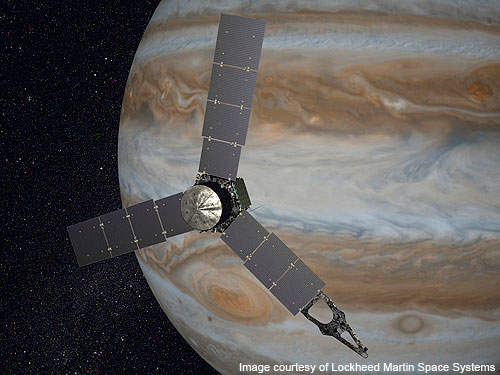 Juno spacecraft entered heliocentric orbit in July 2016.
