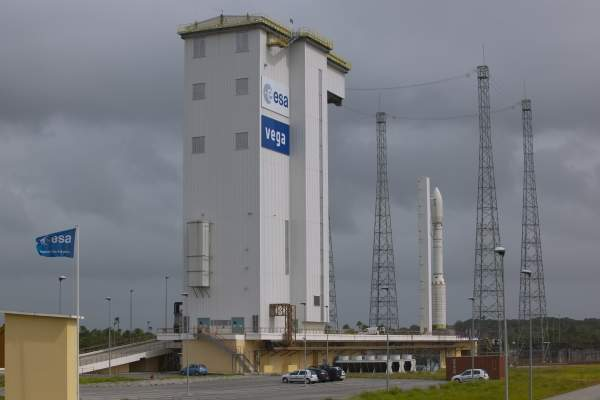 The ZLV launch complex at Europe's Spaceport in Kourou, French Guiana, was the Vega's launch site. Image courtesy of the European Space Agency (ESA).