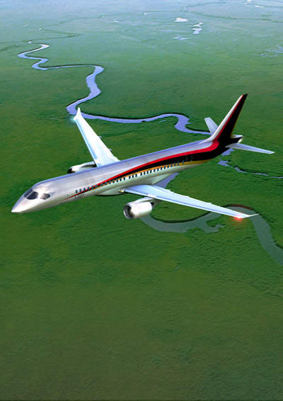 The Mitsubishi regional jet (MRJ) aircraft has a seating capacity of 70 to 90 passengers.