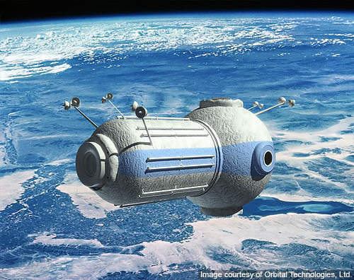 Space tourists will be served by the cosmic hotel in the CSS.