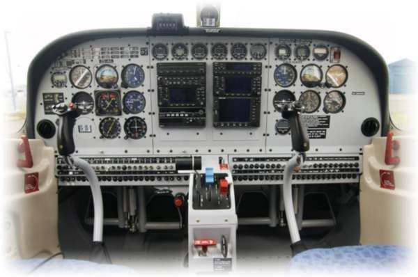 Cockpit of the P-750 XSTOL incorporated with Garmin Avionics suite. Image courtesy of Pacific Aerospace.