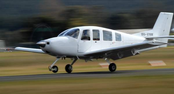 The first C-NM5 prototype aircraft made its maiden flight in September 2011 at Latrobe airport in Australia. Image courtesy of Mahindra & Mahindra Ltd.