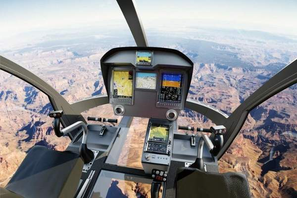 The helicopter features ICDS 8A glass cockpit. Image courtesy of Marenco Swisshelicopter AG.