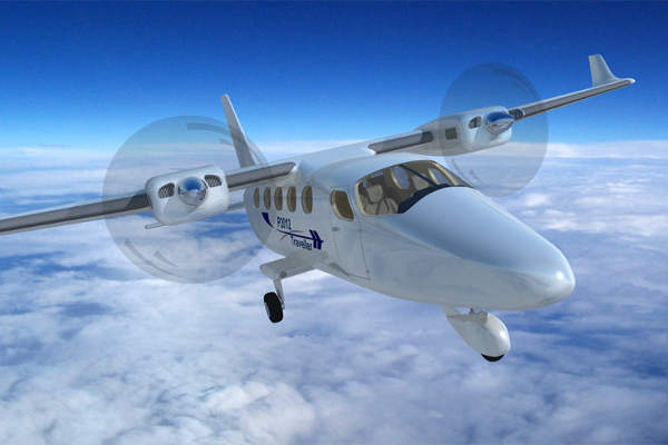 P2012 Traveller will replace the Cessna 402 aircraft. Image courtesy of Costruzioni Aeronautiche TECNAM.