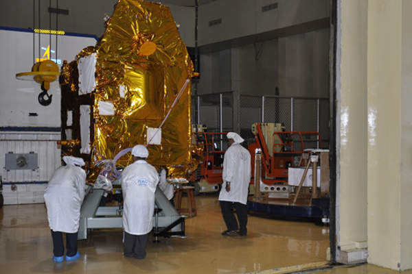 The spacecraft includes five scientific payload instruments indigenously developed by ISRO. Image courtesy of ISRO.