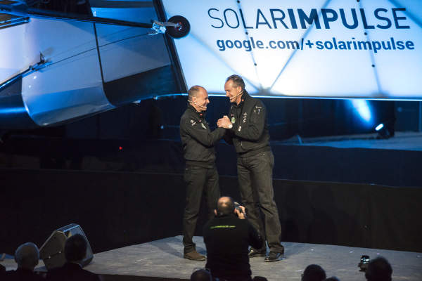 The aircraft flew around the world using solely solar power. Image courtesy of Solar Impulse.