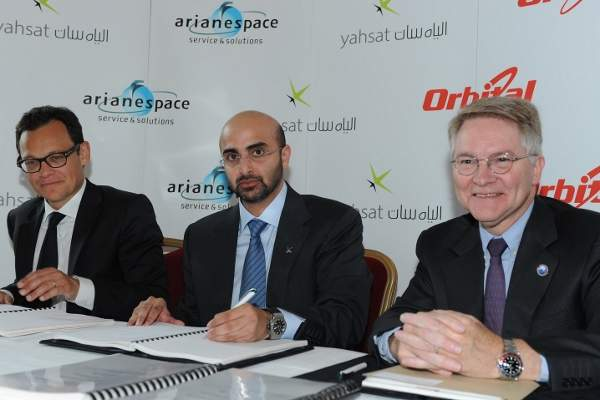 Orbital Sciences Corporation signed a contract for the design and construction of Al Yah 3 Ka-band communications satellite in September 2014. Image: courtesy of Yahsat.