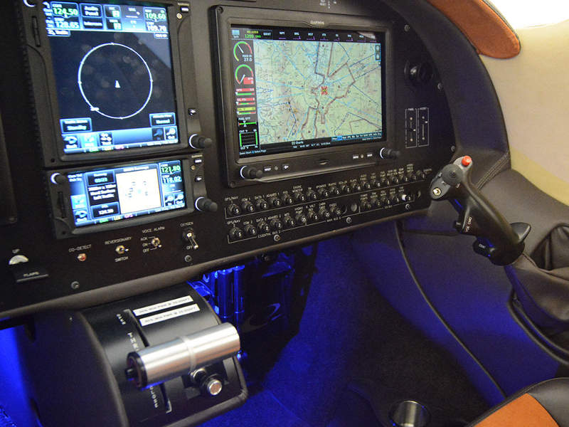 The piston aircraft is fitted with Garmin G3X touch instrument panel. Image: courtesy of Lancair.