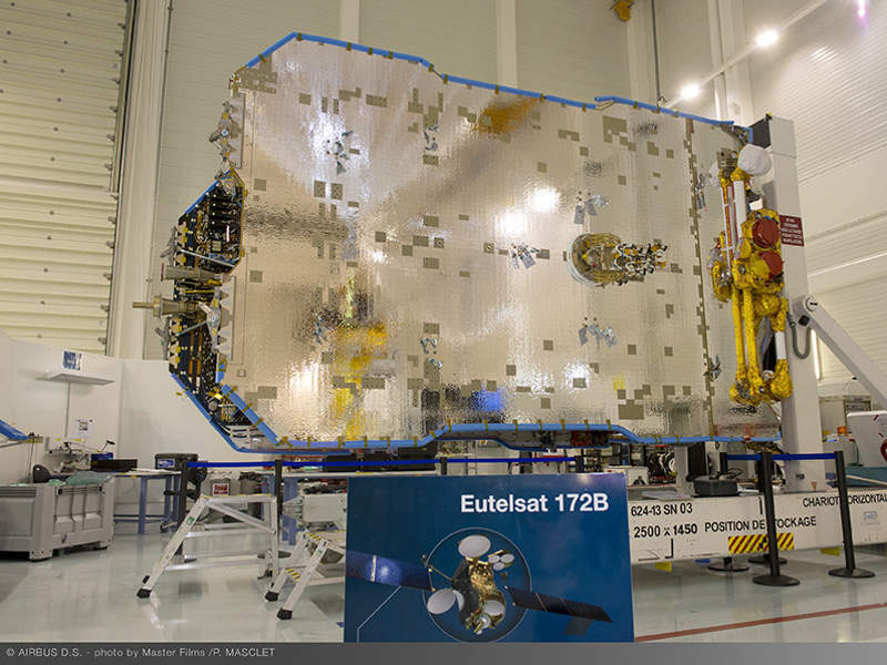 The satellite includes all-electric platform for in-orbit raising. Image courtesy of Airbus Defence and Space.