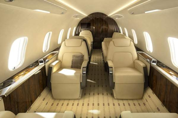 The cabin seats offer 180° reclination.