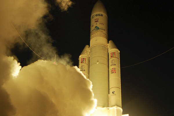ATV-4 was launched on 5 June 2013. Image courtesy of European Space Agency (ESA).