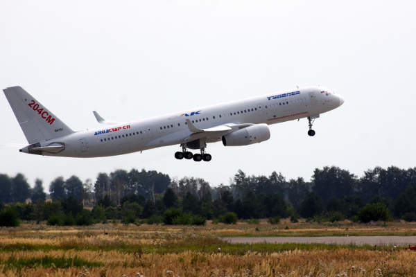 The maiden flight of Tu-204SM aircraft was completed in December 2010.