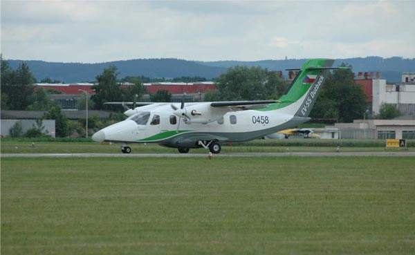 The EV-55 can take-off from and land on unprepared airstrips and short runways. Image courtesy of Evektor.