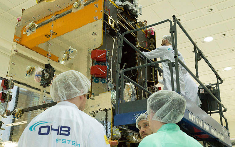Hispasat 36W-1 satellite integration was completed in February 2015. Image: courtesy of OHB.