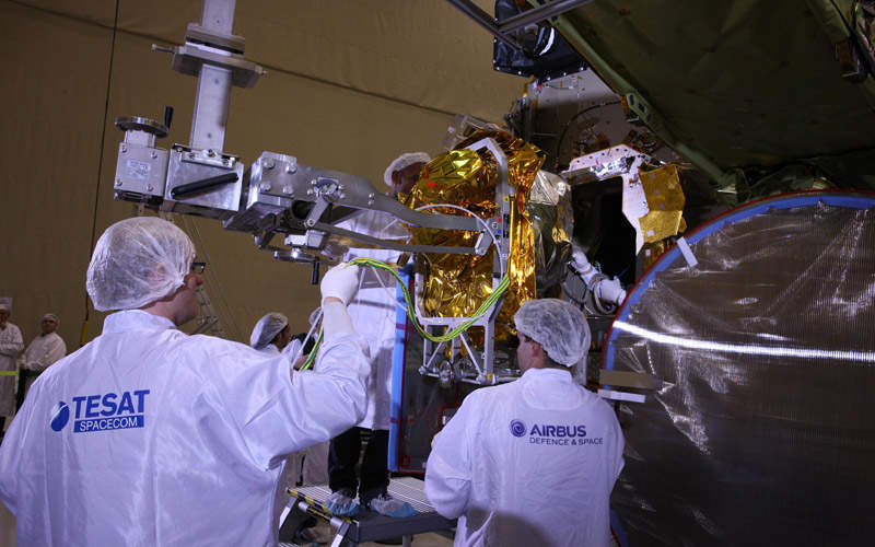 The EDRS-A payload will be launched in January 2016. Image: courtesy of Airbus Defence and Space SAS.