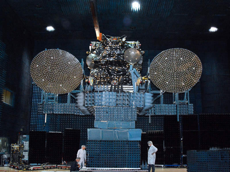 The satellite was manufactured at SSL's facility located in Palo Alto in California. Image: courtesy of Space Systems Loral (SSL).