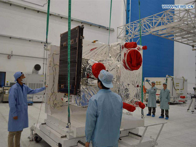 The satellite is fitted with Sagnac interferometer instrument. Image: courtesy of Xinhua.