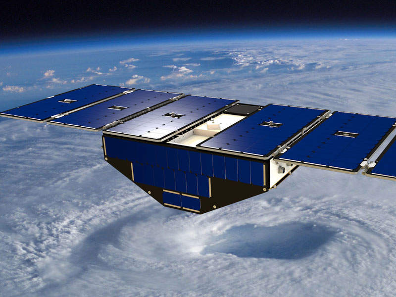CYGNSS consists of eight microsatellites. Image: courtesy of Southwest Research Institute.