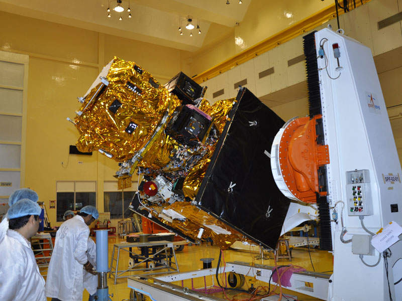 The internal real-time simulation and data transmission checks on the satellite were completed before the launch in December 2016. Image: courtesy of ISRO.