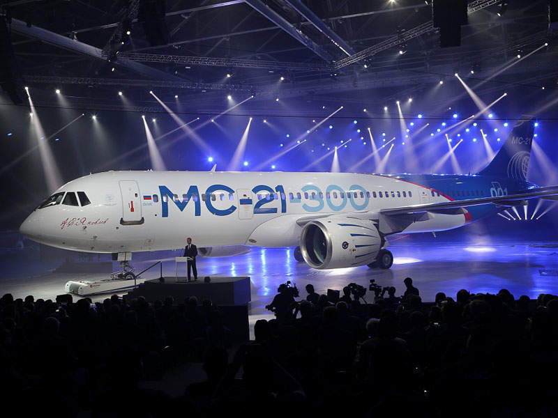 The new Russian MC-21 passenger aircraft was rolled out on 8 June 2016. Image: courtesy of Irkut Corporation.