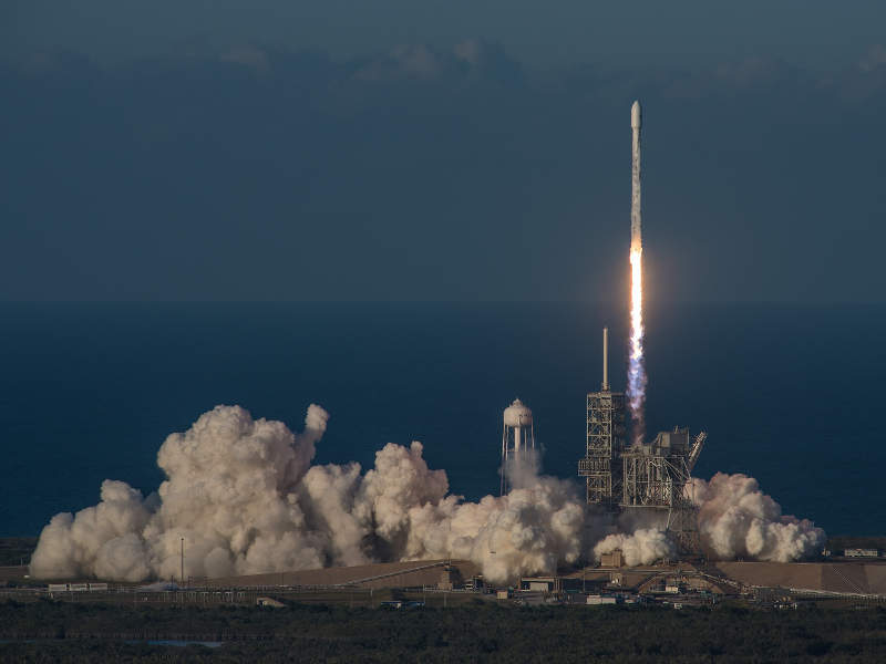 The satellite was launched aboard SpaceX Falcon 9 rocket. Image: courtesy of Boeing.