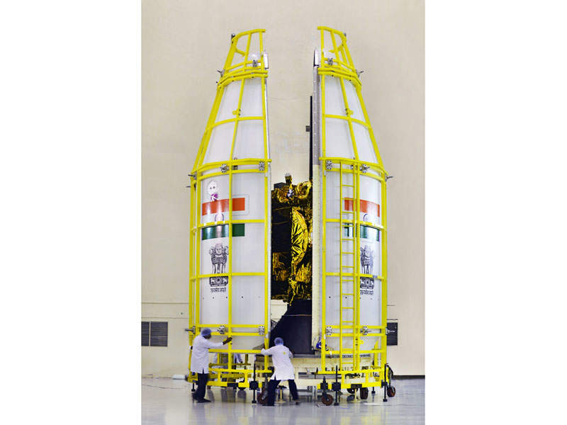 The satellite, developed at a cost of Rs4.5bn ($70m), is regarded as India's gift for south Asian countries. Image courtesy of ISRO.